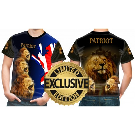 BRITISH LION PATRIOT BLUE T SHIRT