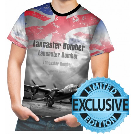Avro Lancaster Bomber WW2 Allied Forces Mens T SHIRT