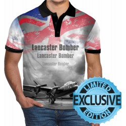 Avro Lancaster Bomber WW2 Allied Forces MensPOLO SHIRT