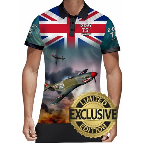 75 TH ANNIVERSARY D-DAY WW2 Allied Forces MensPOLO SHIRT