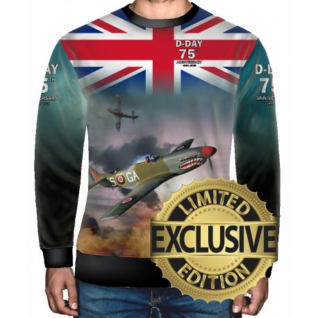 75 TH ANNIVERSARY D-DAY NORMANDY WW2 Allied Forces Mens SWEATSHIRT