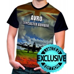 AVRO Lancaster Blueprint T-Shirt Thumper Rolls Royce Bomber Command Aircraft RAFT SHIRT