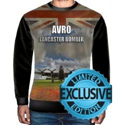 AVRO Lancaster Blueprint SWEATSHIRT Thumper Rolls Royce Bomber Command Aircraft RAFSWEATSHIRT