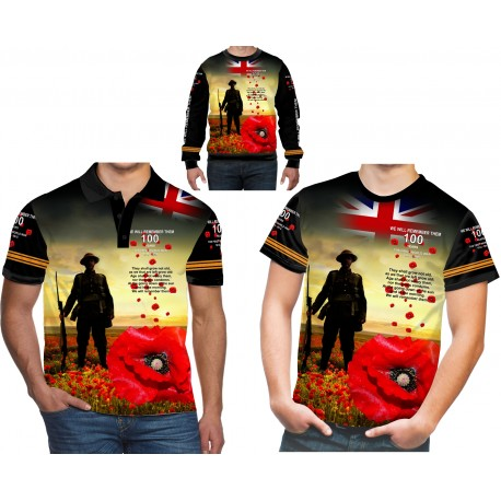 BRITISH ARMY 100 ANNIVERSARY WW 1 POPPY DAY REMEMBRANCE T SHIRT
