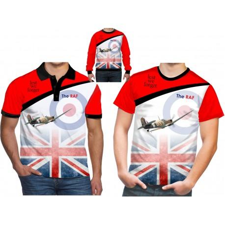 RAF Supermarine Spitfire T Shirt Army WW2 World War II Battle of Britain