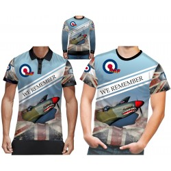 Supermarine Spitfire we remember Mens T-shirt RAF T SHIRTS