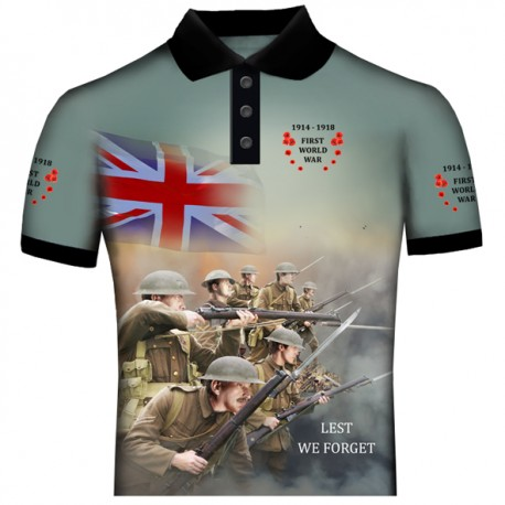 BRITISH 2 WORLD WAR 1 POLO SHIRT