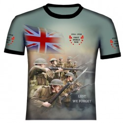 BRITISH 2 WORLD WAR 1 T SHIRT