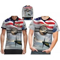P51 Mustang American t shirt WW2