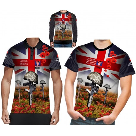 VE DAY 75 TH ANNIVERSARY T SHIRTS