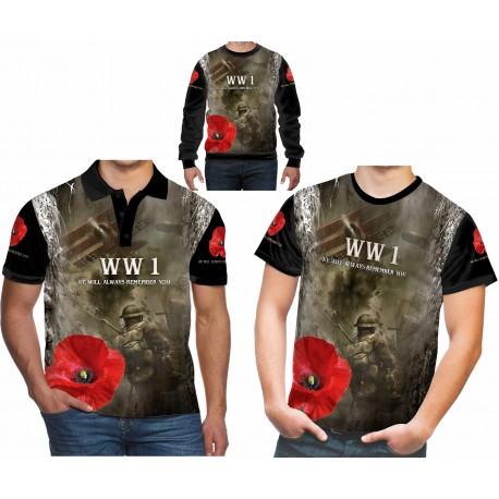 REMEMBER WW1 T SHIRT