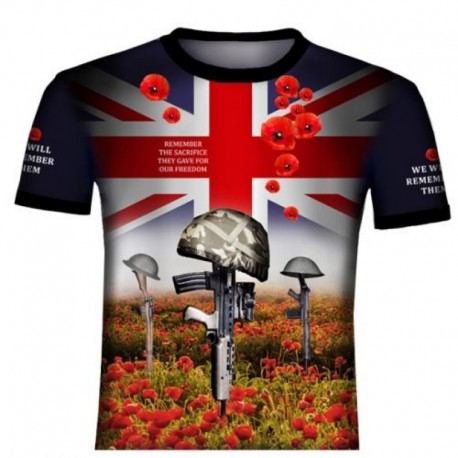 REMEMBRANCE DAY POPPY BRITISH ARMY T-SHIRT