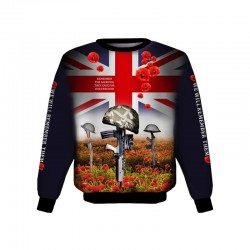 REMEMBRANCE DAY POPPY BRITISH ARMY SWEAT-SHIRT