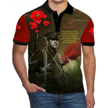 SOLDIER REMEMBER POLO SHIRT