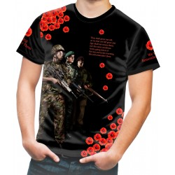 POPPY WE SHALL NOT FORGET T-SHIRT