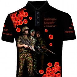 POPPY WE SHALL NOT FORGET POLO SHIRT