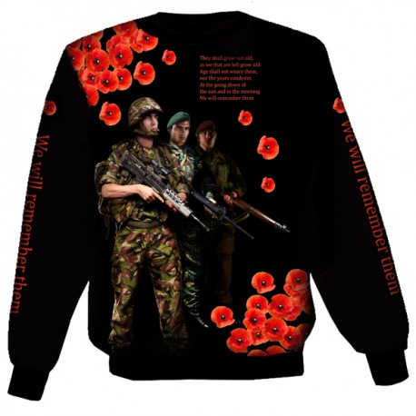 POPPY WE SHALL NOT FORGET BRITISH ARMY SWEAT-SHIRT