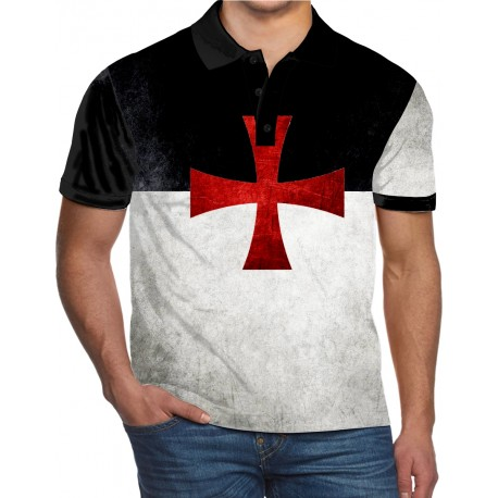 Knights Templar Cross Catholic Holy Bible Solomon's Temple Church POLO SHIRT