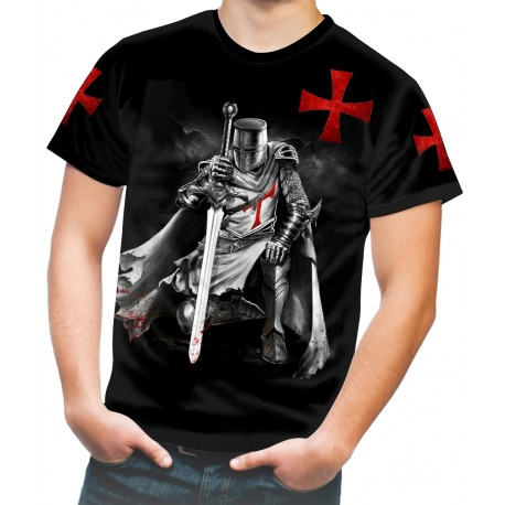 THE RISE OF THE KNIGHTS TEMPLAR TEMPLE CHRIST THE SOLDIERS OF GOD UK T-SHIRT