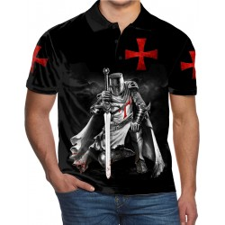 THE RISE OF THE KNIGHTS TEMPLAR TEMPLE CHRIST THE SOLDIERS OF GOD UK POLO SHIRT