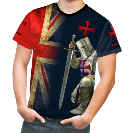 Medieval Knights Templar Sublimated Mens Sport Mesh tee T-Shirt