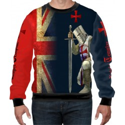 Medieval Knights Templar Sublimated Mens Sport Mesh tee SWEAT-SHIRT