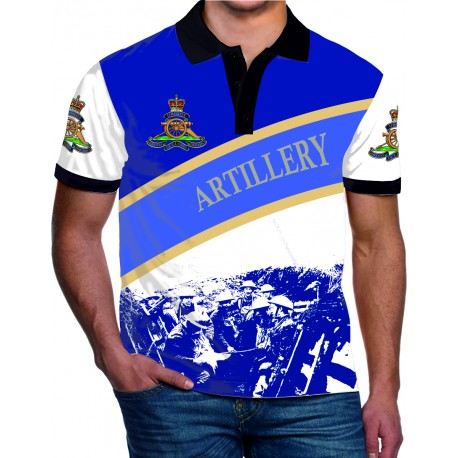 ROYAL ARTILLERY WW1 POLO SHIRT