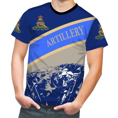 ROYAL ARTILLERY WW2 BLUE T SHIRT