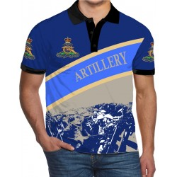 ROYAL ARTILLERY WW1 BLUE POLO SHIRT